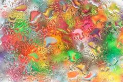 Капельки воды на стекле Стоковое Изображение