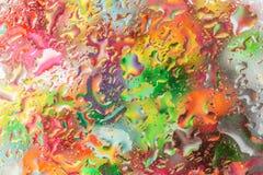 Капельки воды на стекле Стоковое фото RF