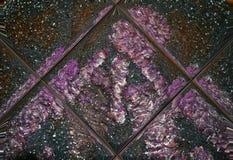 Капельки воды на фиолетовой пушистой шерсти отразили плитки Стоковые Фотографии RF