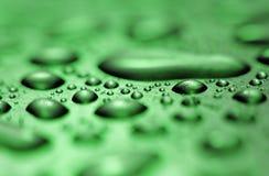 Капельки воды сформированные от конденсации внутри металла возражают gree Стоковое Изображение RF