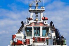 Капитанский мостик на корабле стоковая фотография