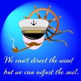 Капитан дальнего плавания также вектор иллюстрации притяжки corel Стоковое Фото