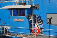 Капитан буксира Стоковое Фото