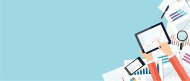 Капиталовложения предприятий вектора и концепция знамени финансов Стоковые Фотографии RF