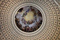 Капитолий - купол внутренности стоковые фото