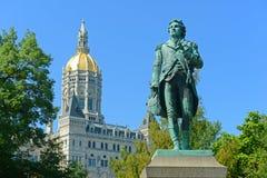 Капитолий положения Коннектикута, Hartford, CT, США стоковое фото rf