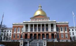 Капитолий положения Массачусетса следа свободы времени войны за независимость в США Стоковые Фотографии RF