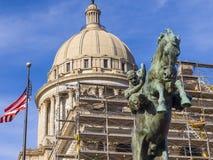 Капитолий положения Оклахомы в Оклахомаа-Сити стоковое фото