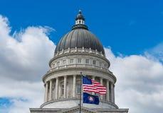 Капитолий положения Юты в Солт-Лейк-Сити, США Стоковые Изображения RF