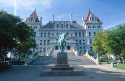Капитолий положения New York Стоковые Изображения