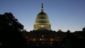 Капитолий Соединенных Штатов на восходе солнца видеоматериал