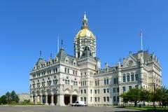Капитолий положения Коннектикута, Hartford, CT, США Стоковые Изображения RF