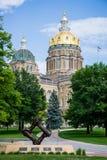 Капитолий положения Des Moines Айовы стоковые фото
