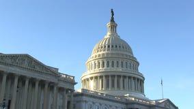 Капитолий США в Вашингтоне, DC видеоматериал