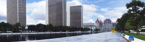 Капитолий штат Нью-Йорк и площадь Имперского штата в Albany Стоковые Изображения RF