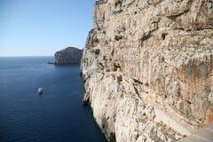 Каподастр Caccia, Alghero Sardegna Стоковое фото RF