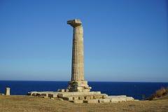 Каподастр Colonna - висок Hera Lacinia стоковое фото rf