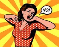 Капризная женщина говорит нет Стоковые Фото