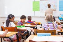 Капризный зрачок в классе стоковое изображение