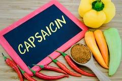 Капсаицин в перцах Chili Стоковое Фото