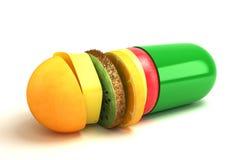 Капсула витамина иллюстрация вектора