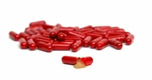 капсула внутри красного цвета Стоковая Фотография RF