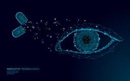 Капсула зрения витамина пищевой добавки Технология нововведения химии науки медицины лекарства здравоохранения глаза ясная иллюстрация вектора