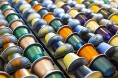 Капсула кофе других цветов алюминиевая Стоковая Фотография RF