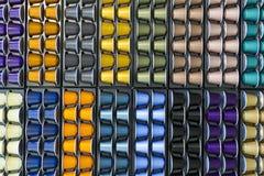 Капсула кофе других цветов алюминиевая Стоковые Фотографии RF