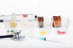 Капсула пилюльки впрыски иглы медицинского лекарства для терапии вереска Стоковое Изображение RF