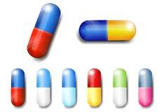 Капсулы, медицина, пилюлька -- Иллюстрация вектора Стоковые Фотографии RF