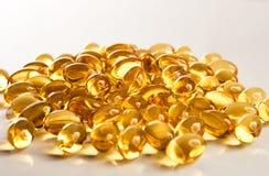 Капсулы рыбий жира витамина Omega-3 Стоковые Фотографии RF
