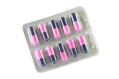 Капсула медицины в пакете волдыря Стоковые Изображения RF