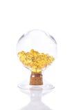 Капсула рыбьего жира, омега 3-6-9 капсул гелей рыбьего жира желтых мягких Стоковые Фотографии RF