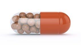 Капсула с шариками корзины бесплатная иллюстрация