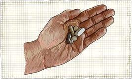 Капсулы в руке Стоковое Изображение RF