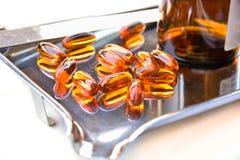 Капсулы дополнения лецитина стоковая фотография rf