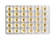 Капсулы рыбьего жира в пакете волдыря Стоковое Изображение RF