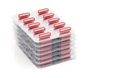 Капсулы упакованные в волдырях Стоковые Фотографии RF