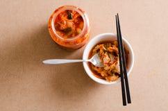 Капуста Kimchi & x28; Корейское food& x29; подготавливайте к еде стоковое фото