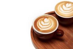 капучино придает форму чашки 2 Стоковая Фотография RF