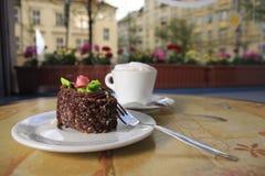 капучино торта Стоковое Изображение