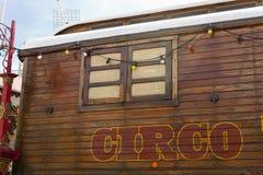 Караван цирка с испанской литерностью circo Стоковые Фотографии RF