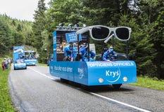 Караван Krys - Тур-де-Франс 2014 Стоковое Фото