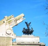 Карамболь артиллерии Первой Мировой Войны стоковые фотографии rf