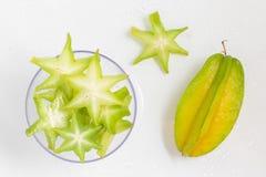 Карамбола Карамбола l Averrhoa Звезда плодоовощ Стоковое Изображение RF