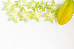 Карамбола Карамбола l Averrhoa Звезда плодоовощ Стоковое фото RF