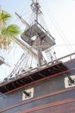 Карамболи и рангоут военного корабля Стоковые Фото