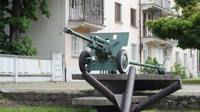 Карамболь артиллерии 2-ой мировой войны Стоковое Фото