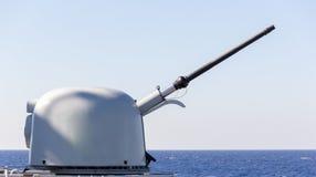 Карамболь военного корабля направляет прицелиться Стоковая Фотография